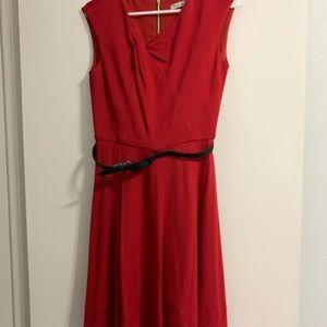 Red Mini Dress w/ Belt